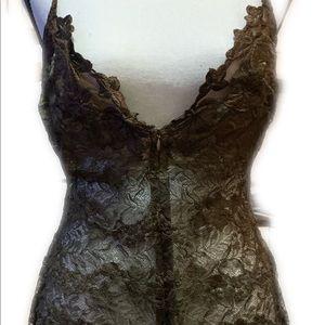La Perla Lace Nightie Brown Size 4